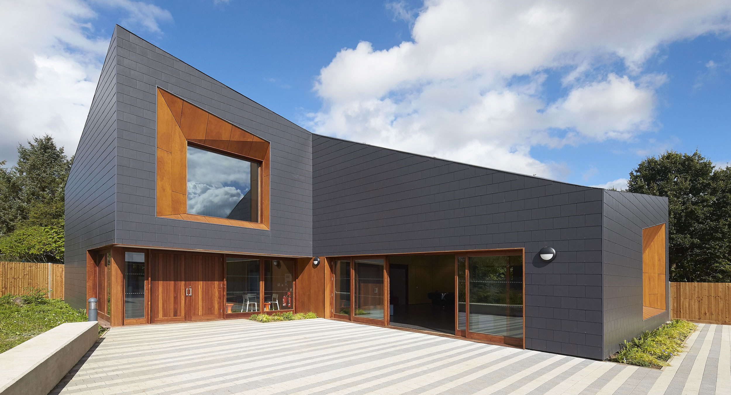 timber and fibre cement cladding