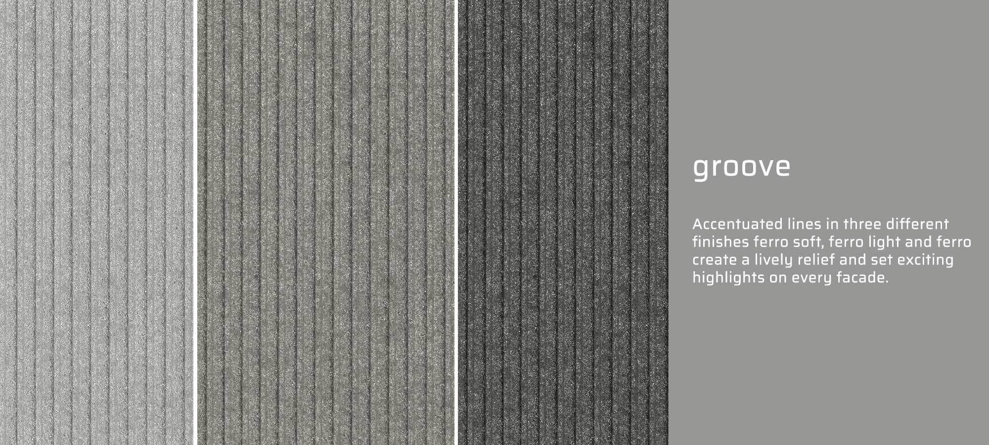 GRC groove texture