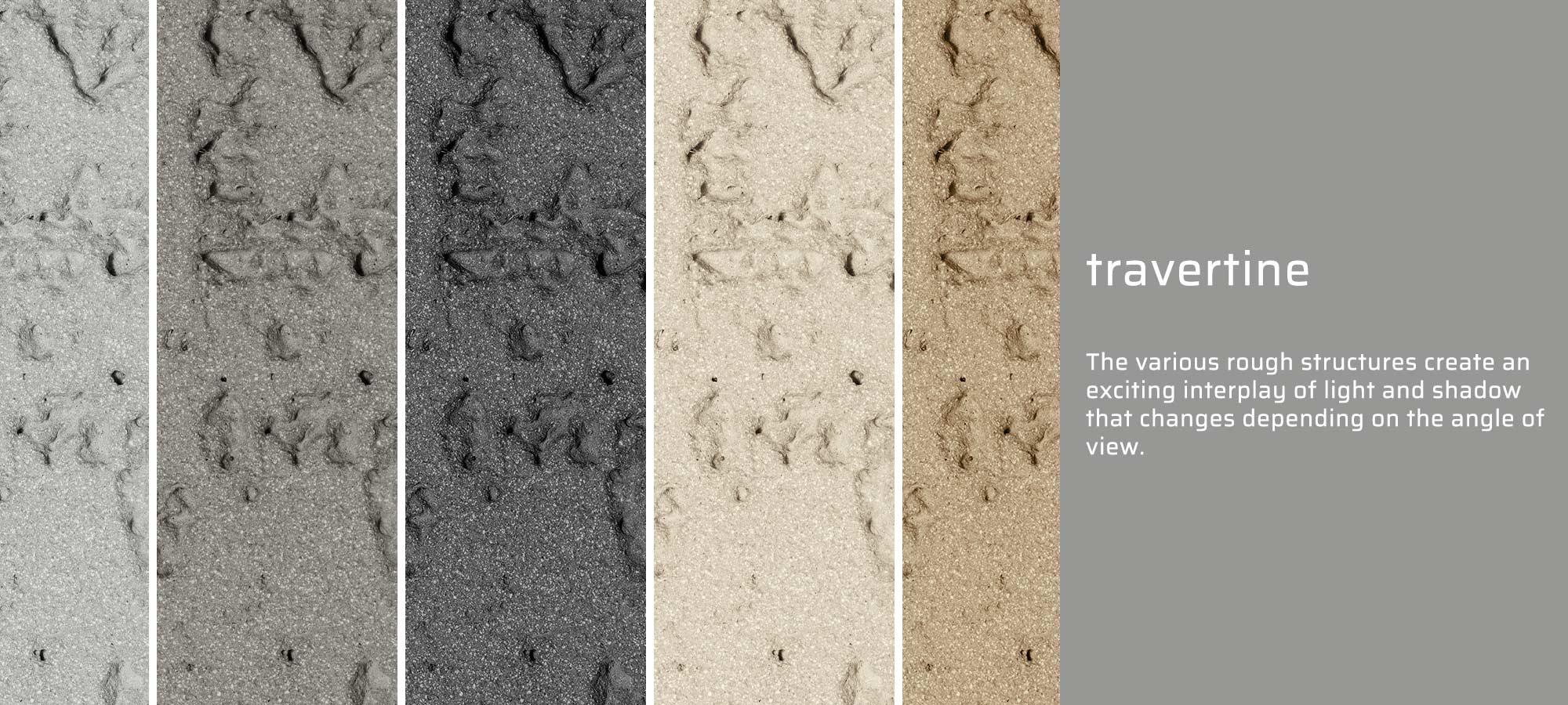 GRC travertine texture