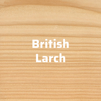 british larch timber cladding