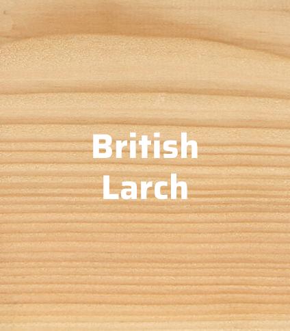 british larch timber cladding