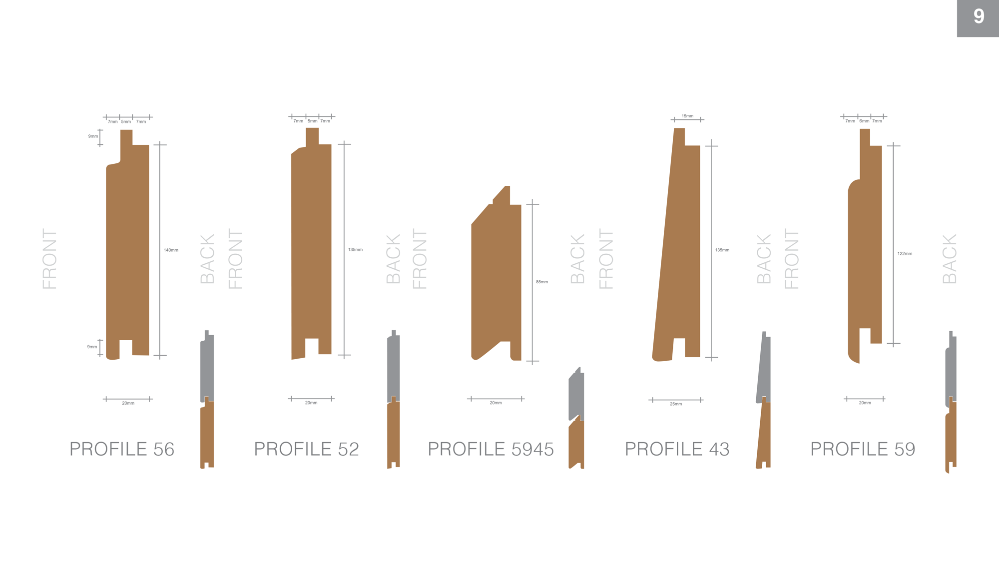 timber cladding profile