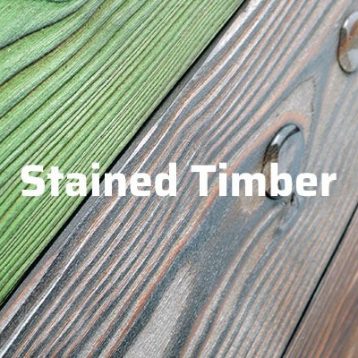 charred and stained timber